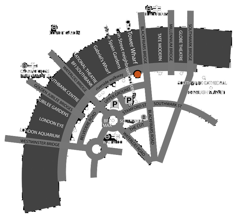 Sima Vaziry Oxo Tower Shop Map