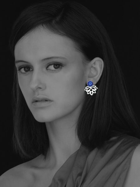 Alina Blossom lapis earrings