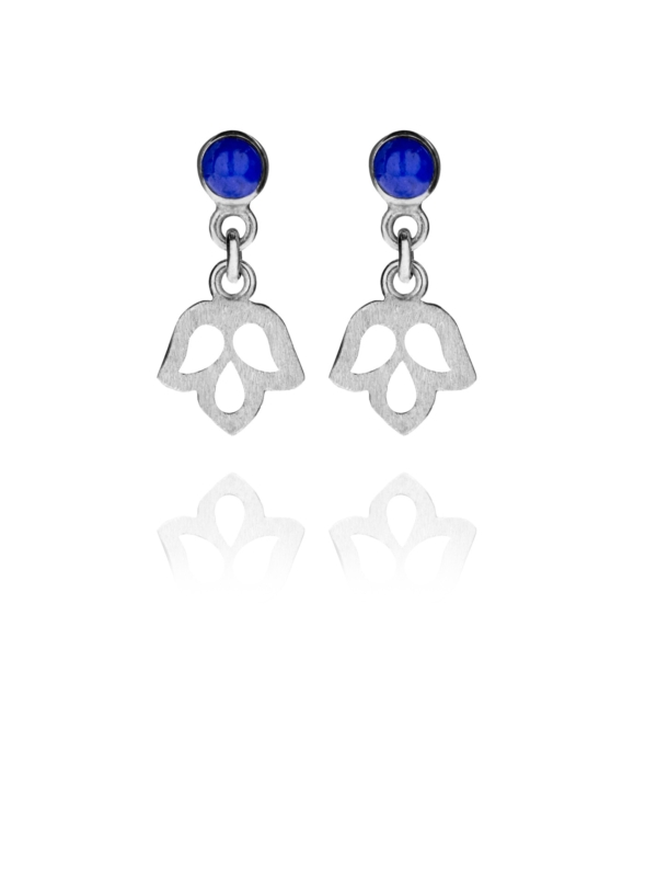 Alina Blossom lapis drop earrings