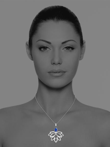 Alina Blossom lapis pendant