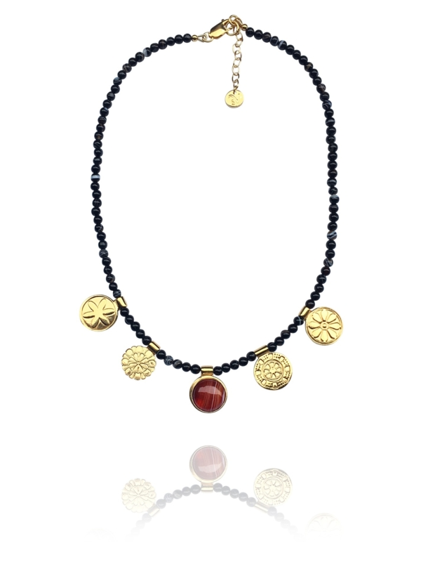 Assyrian Flowers necklace