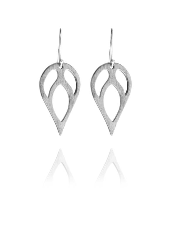 Bloom silver earrings