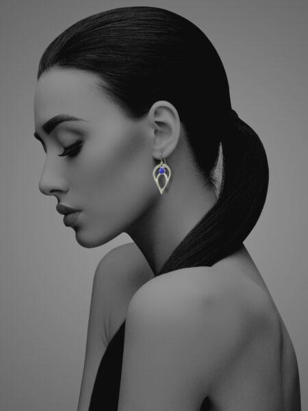Bloom lapis earrings