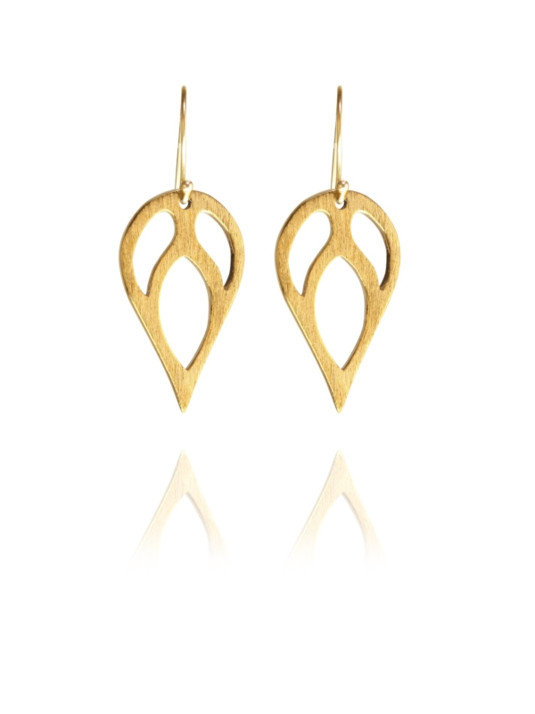 Bloom Full earrings silver vermeil G