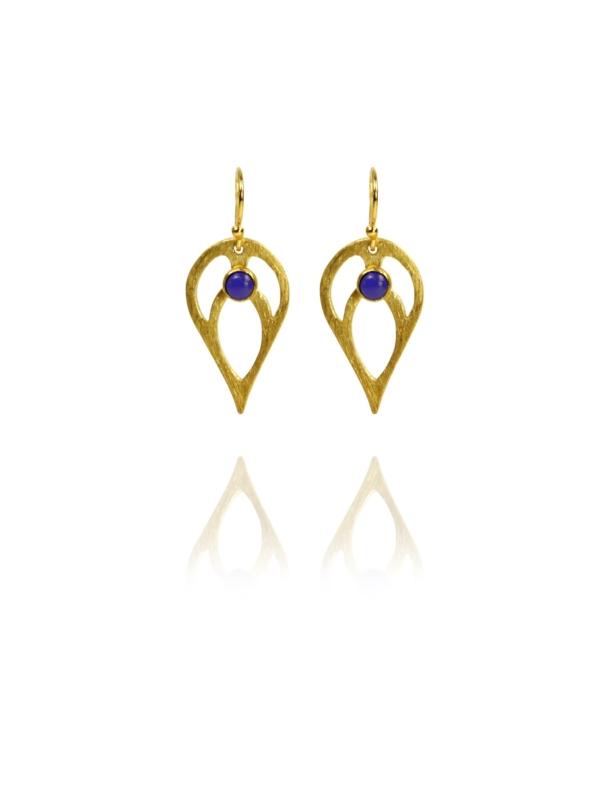 Bloom Full earrings silver vermeil lapis GL