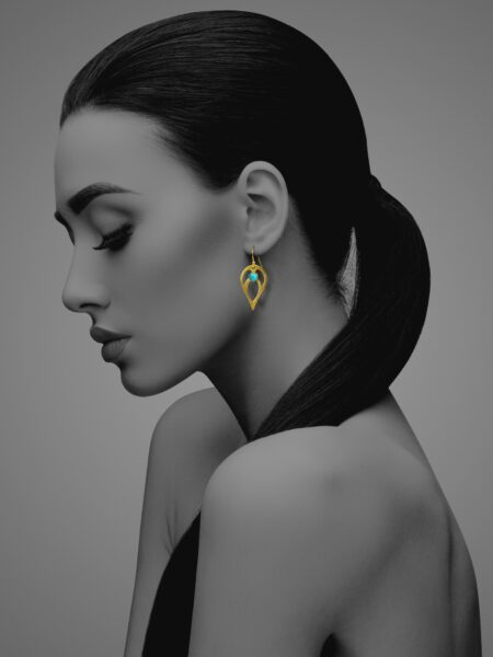 Bloom turquoise vermeil earrings