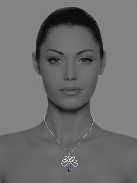 Half Bloom lapis necklace