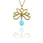 Bloom half necklace silver vermeil amazonite GA