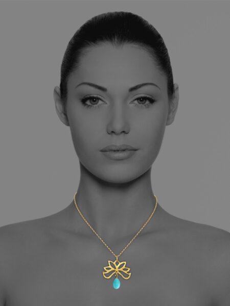 Half Bloom amazonite necklace
