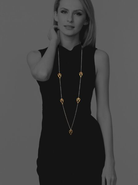 Bloom long vermeil necklace