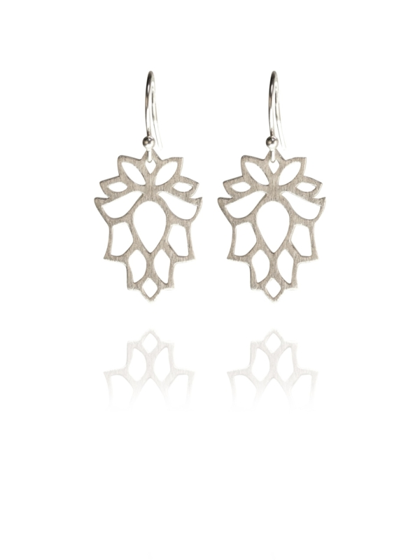 Bloom mini earrings silver