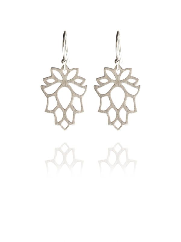 Bloom mini silver earrings