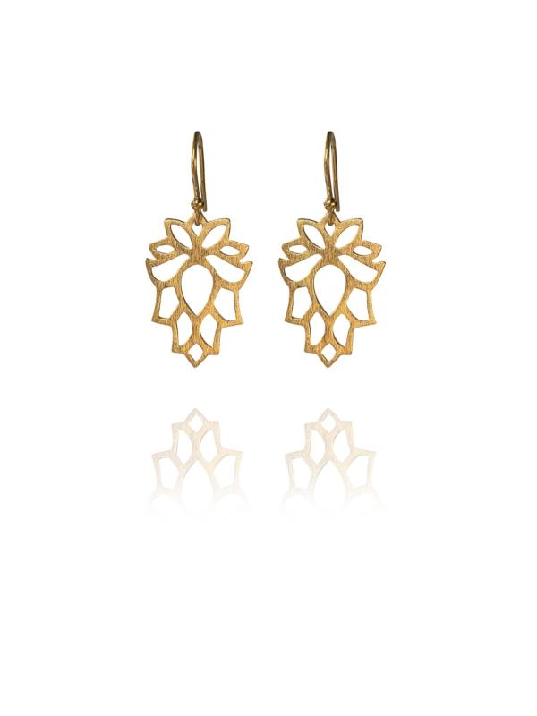 Bloom mini vermeil earrings
