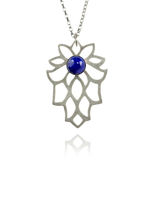 Bloom lapis necklace