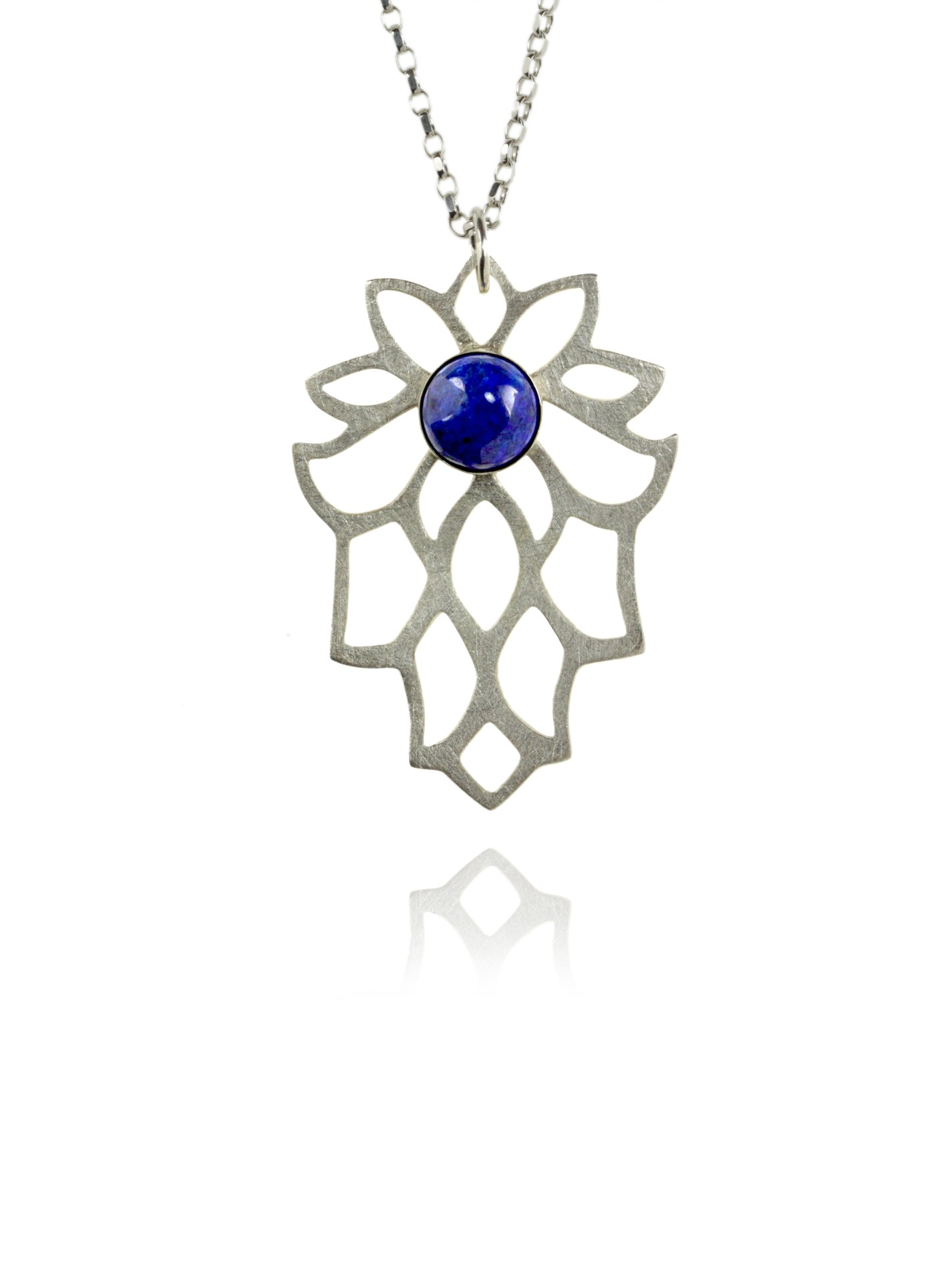 Bloom necklace silver lapis 82401 1