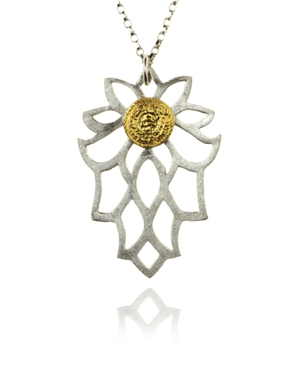 Bloom necklace silver vermeil 82402 1