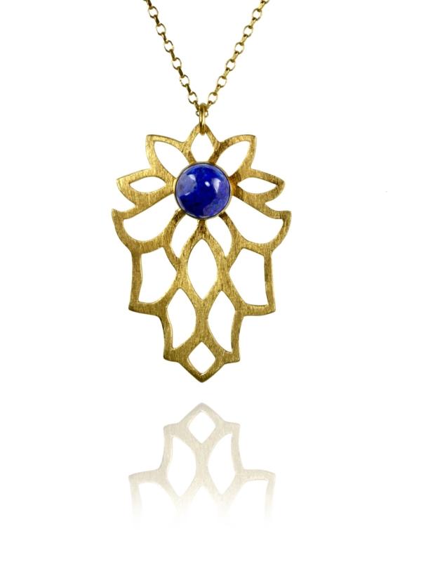Bloom lapis vermeil necklace