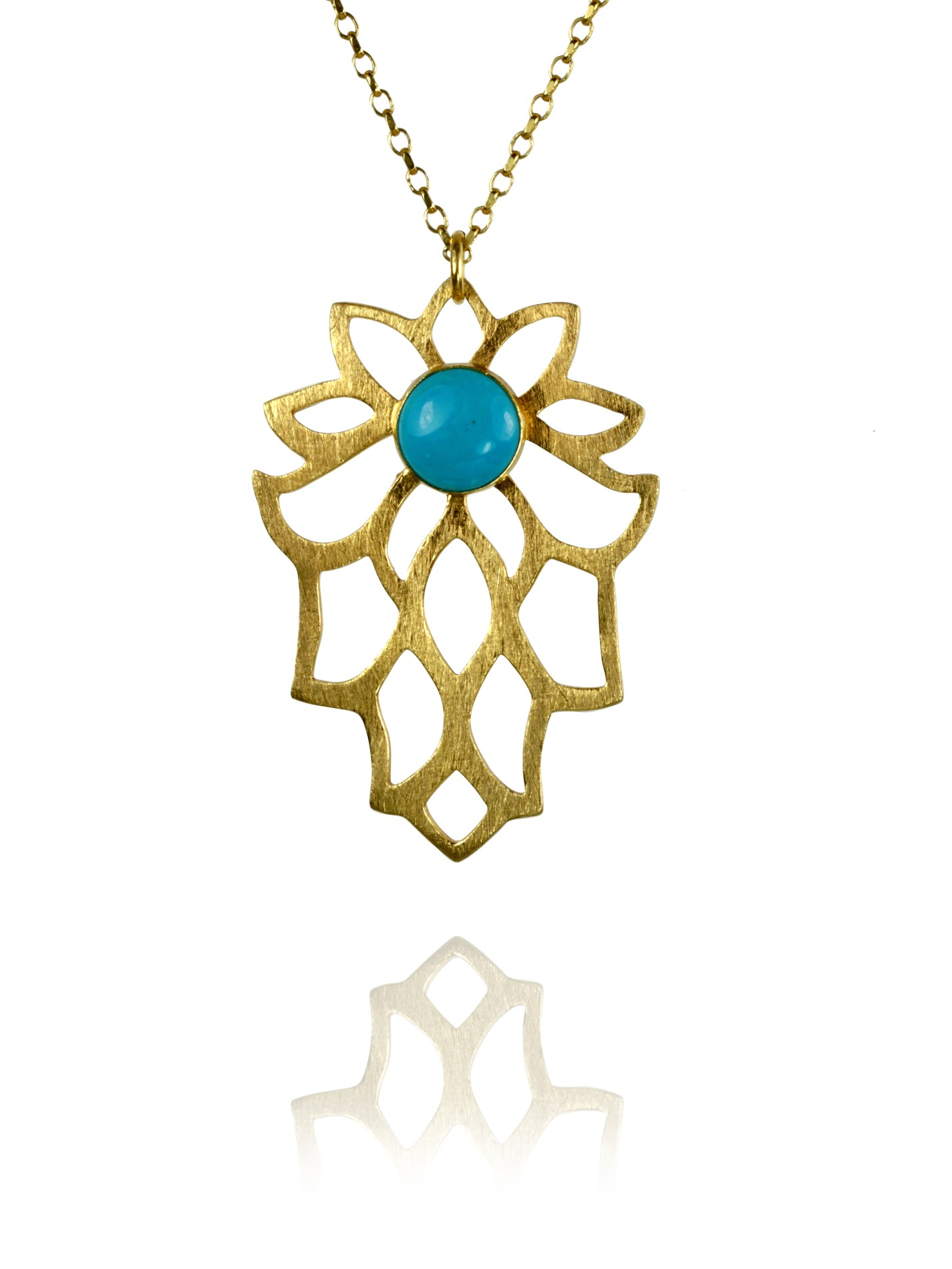 Bloom necklace silver vermeil turquoise 82401TG 1