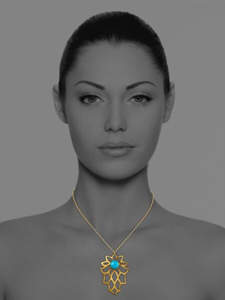Bloom turquoise vermeil necklace