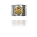 Coin Cuff ring silver vermeil 92407 1