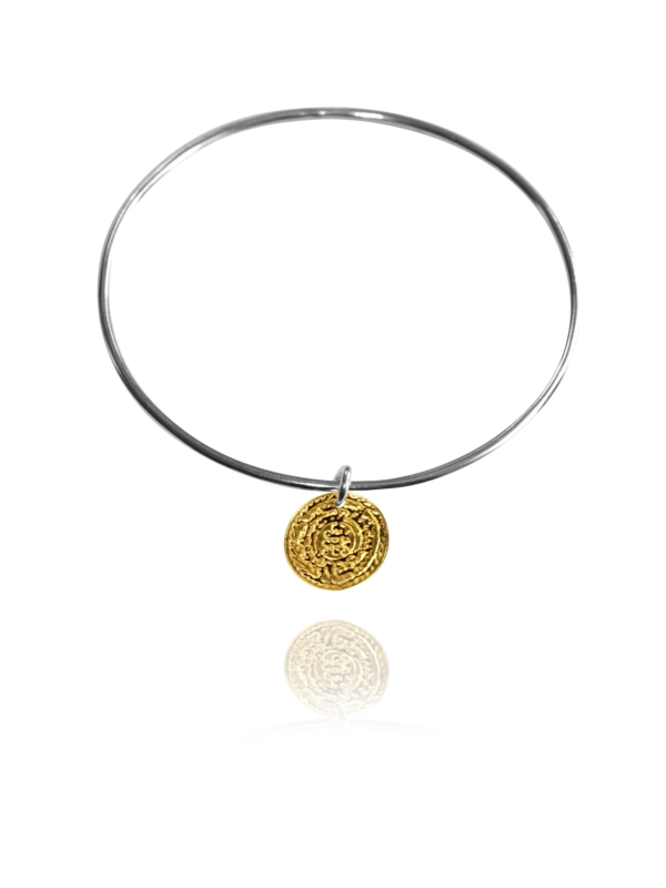 Coin vermeil bangle