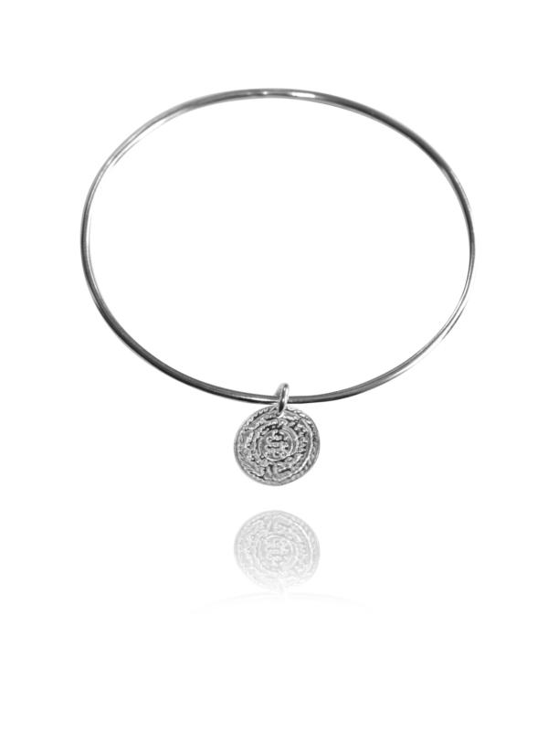 Coin silver bangle