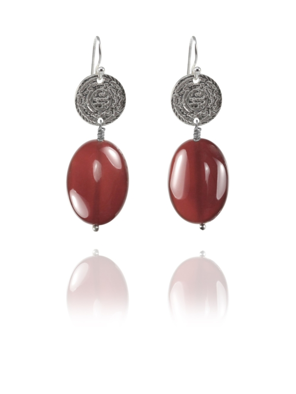 Hope carnelian earrings