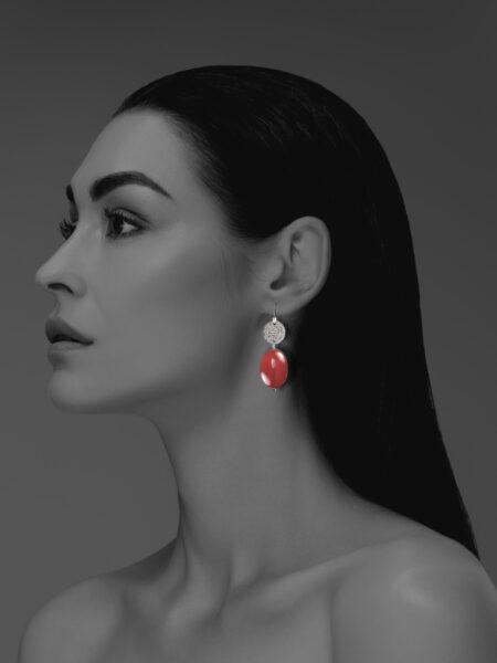Hope carnelian earrings
