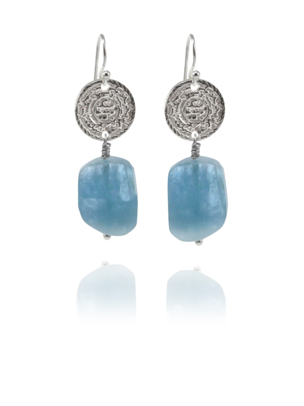 Hope aquamarine earrings