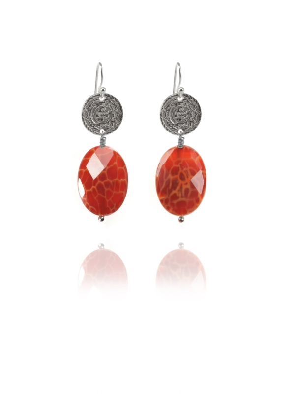Hope burnt agate earrings