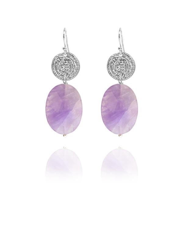 Hope faceted lavender amethyst earrings