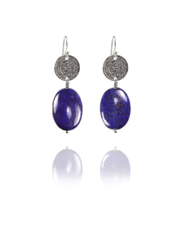 Hope Large earrings silver lapis