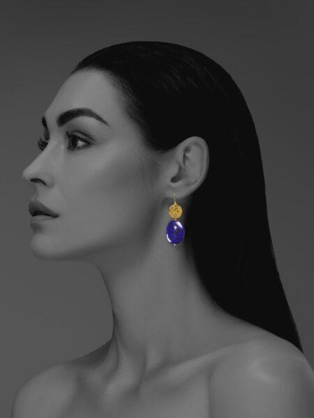 Hope lapis vermeil earrings