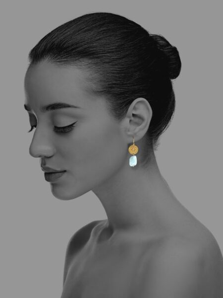 Hope aquamarine vermeil earrings