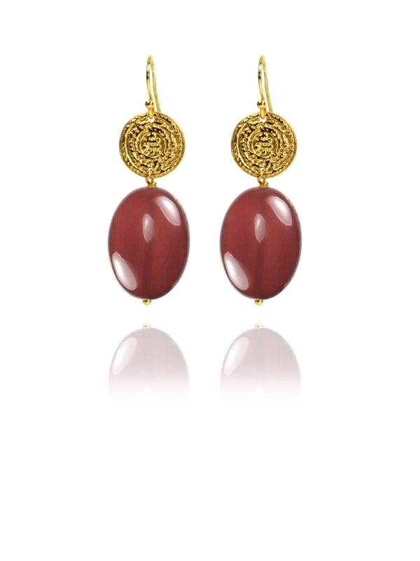 Hope carnelian vermeil earrings