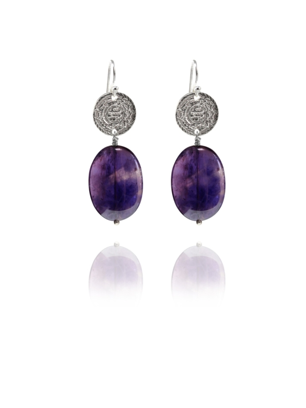 Hope Small earrings silver amethyst A