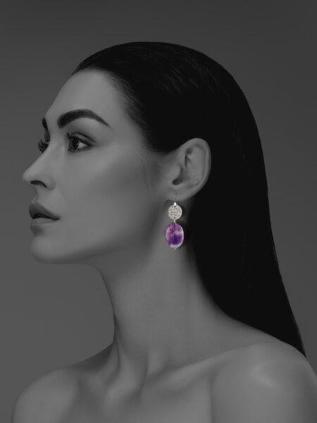 Hope amethyst earrings