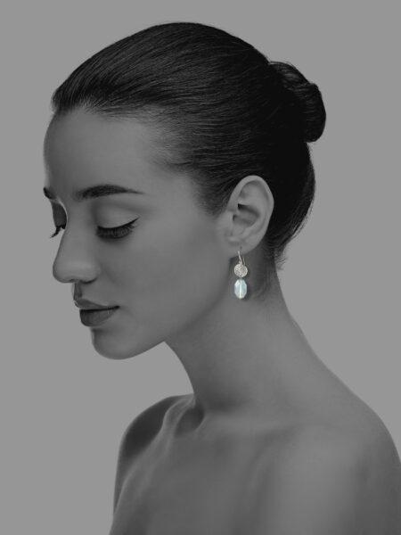 Hope aquamarine small earrings