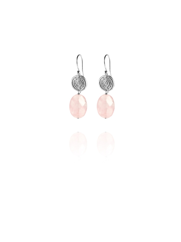 Hope faceted rose quartz small earrings