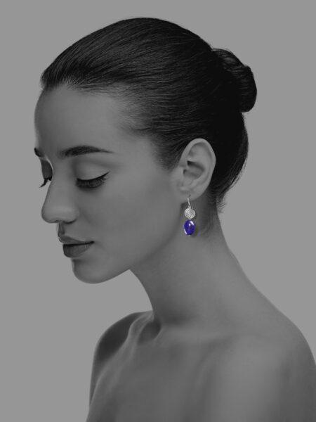 Hope lapis small earrings