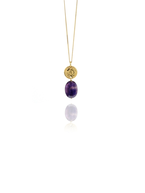 Hope amethyst vermeil small pendant