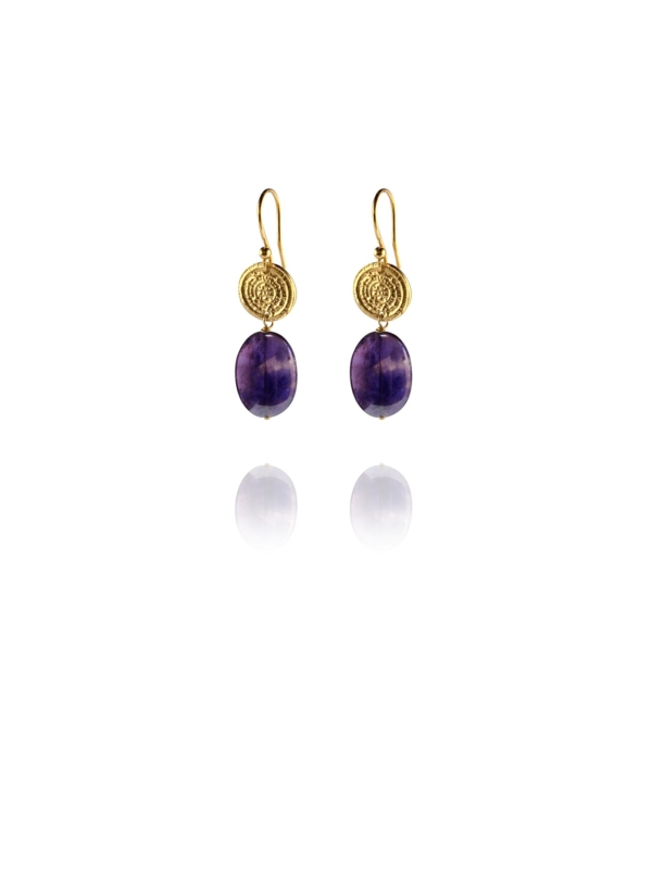 Hope amethyst vermeil small earrings