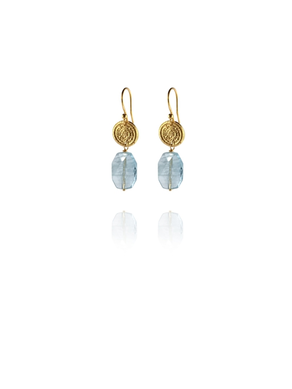 Hope aquamarine vermeil small earrings