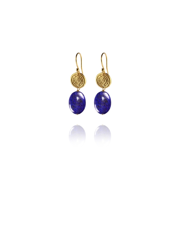 Hope lapis vermeil small earrings