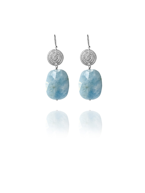 Hope aquamarine large earrings