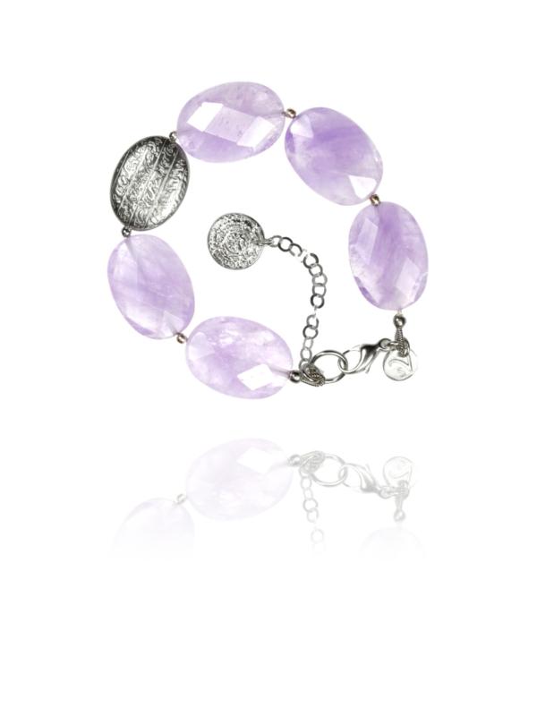 Hope bracelet faceted lavender amethyst silver 62425FA 1