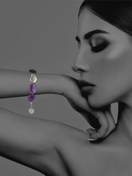 Hope amethyst bracelet