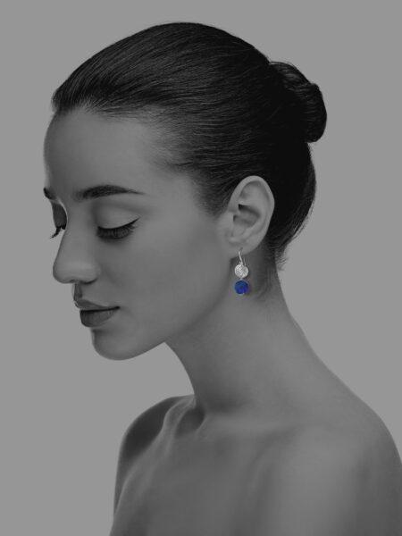 Hope unpolished lapis earrings
