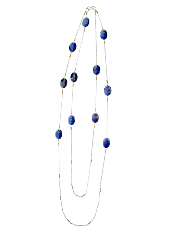 Hope lapis long necklace