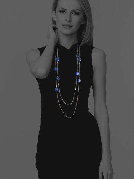 Hope lapis long necklace
